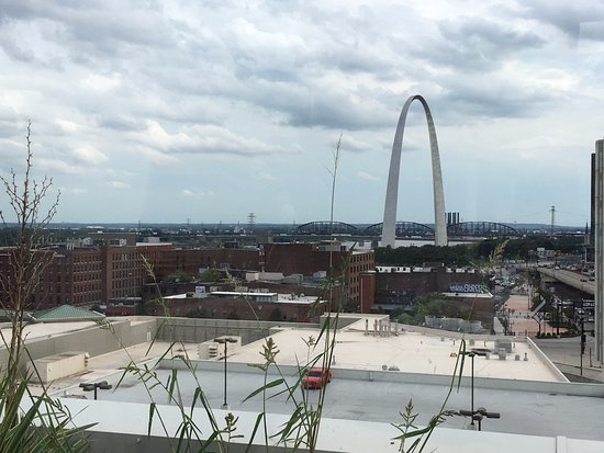 Four Seasons Hotel St. Louis: View of the city from the cabana
