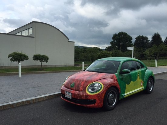 Amherst, MA: VW decorated in honor of 25th anniversary of The Very Hungry Caterpillar