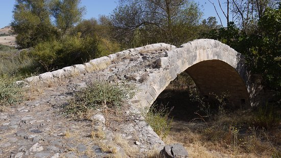 Paphos District, Cyprus: This side of the bridge is much better preserved than the other one.