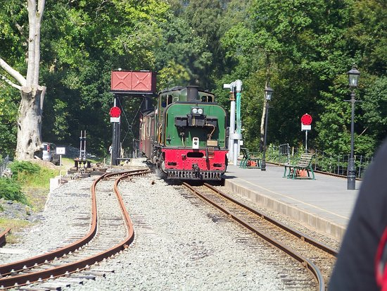 Our Porthmadog WHR train coming in to Beddgelert