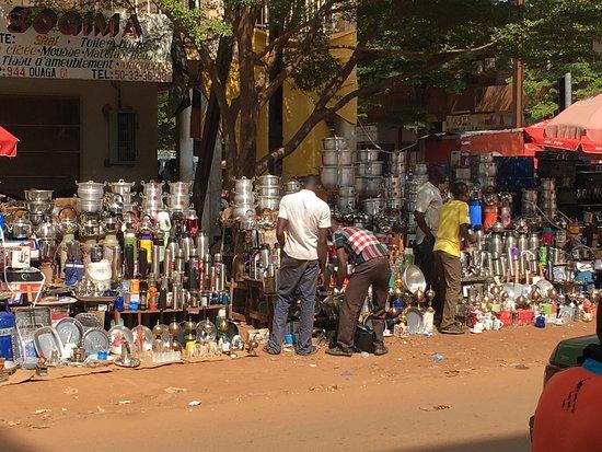 Ouagadougou Markets : Ouagadougou central market area
