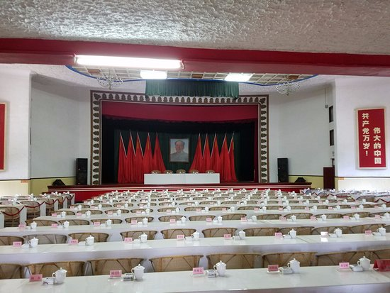 Jiujiang, China: meeting room used by nationalists, then communists for many years, original name tags and all