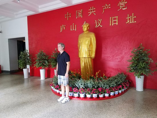 Jiujiang, China: A statue of Mao