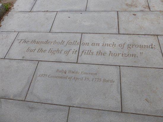 Concord, MA: Dedication By Waldo Emerson