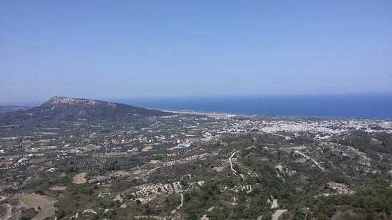 Filerimos, اليونان: Вид с площадки Filerimos
