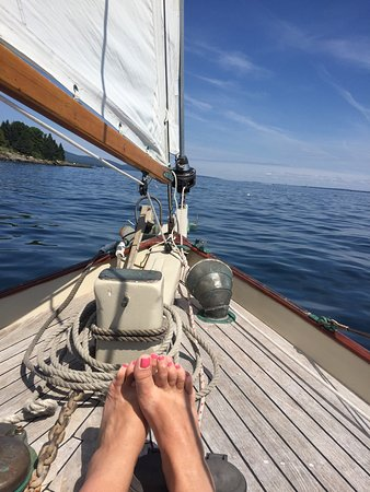 """Camden, Мэн: We loved our sail today on the """"owl"""" with Matt! Highly recommended if you want a smaller more in"""