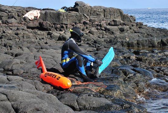Saint-Paul, Reunion: Les chasseurs sous marins se mettent à l'eau