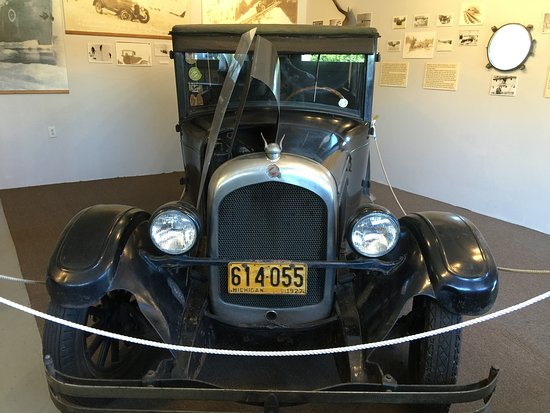 Ironwood, MI: Chrysler salvaged from shipwreck on display at Eagle Harbor Lighthouse