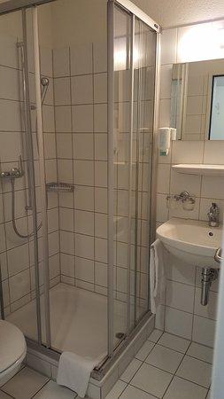 Hotel Richemont: Small bathroom