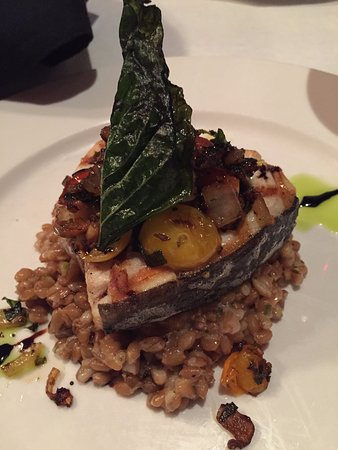 29 South Eats: Sword fish with a wonderful onion/pepper topping.