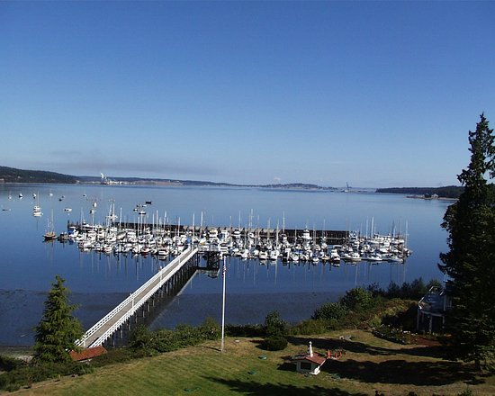 Port Hadlock, WA: Harbor View From Lawn