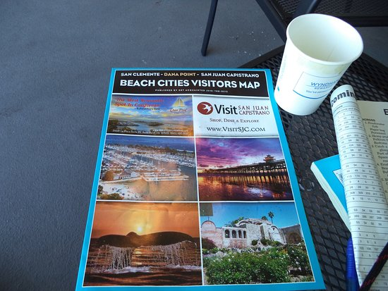 San Clemente, CA: Coffee and information were provided.
