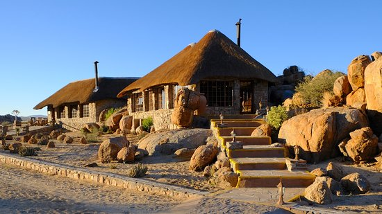 Cañón Fish River, Namibia: steps to the reception