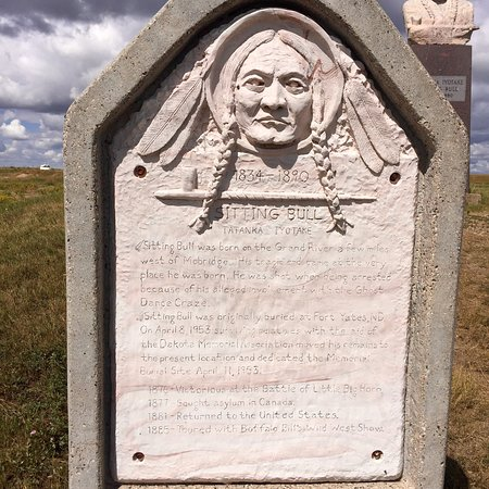 Sitting Bull Memorial: The surroundings are run down and ghetto but the monument is beautiful even though it has been d