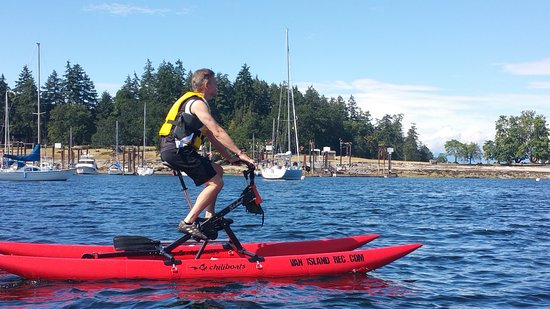 Nanaimo, Canada: Waterbike ride at Newcastle Island