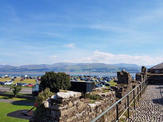 Beaumaris, UK: view from the battlements