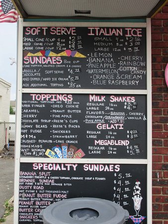 East Hanover, NJ: Scoop Coop Menu Board