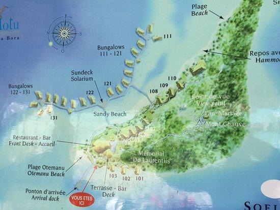Plan De L Hotel Picture Of Sofitel Bora Bora Private