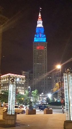 Tower City Center Night View