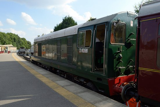 Wirksworth, UK: Class 20 diesel at Duffield station