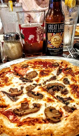 Wadsworth, OH: My favorite pizza and favorite local beer.