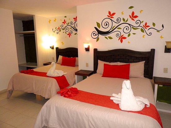 Hotel Posada Las Casas: Habitacion cuadruple