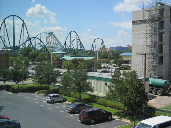 SpringHill Suites Orlando at SeaWorld®: View of Sea World to the right of my room