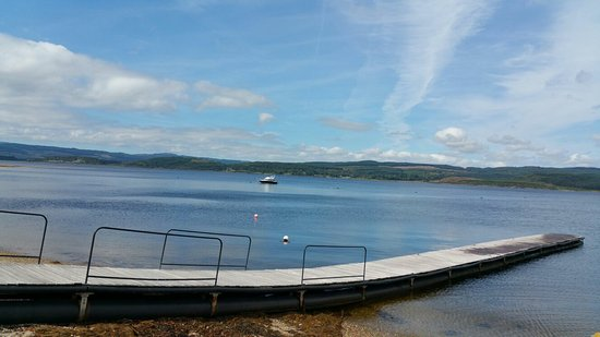 Tighnabruaich, UK: view of the pier
