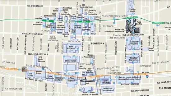 Ciudad subterránea: Mappa