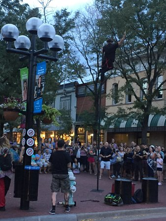 Boulder, CO: Street entertainer and very happy crowd