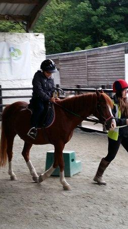Inveraray, UK: learning to ride