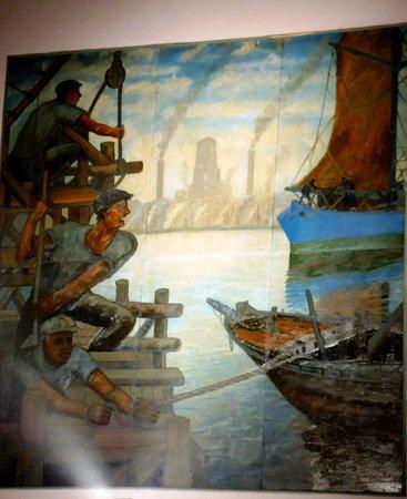 teatro de la ribera cuadros originales de benito quinquela martn