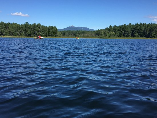 Chocorua Camping Village: KOA has amazing views from their lake.  Canoe and Kayak rentals just $8/hr.  A bargain for such