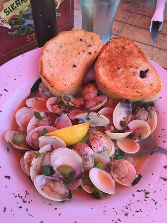 "Steilacoom, WA: Thursday business lunch with a gorgeous view - steamer clams and ""Crabby Patty""!"