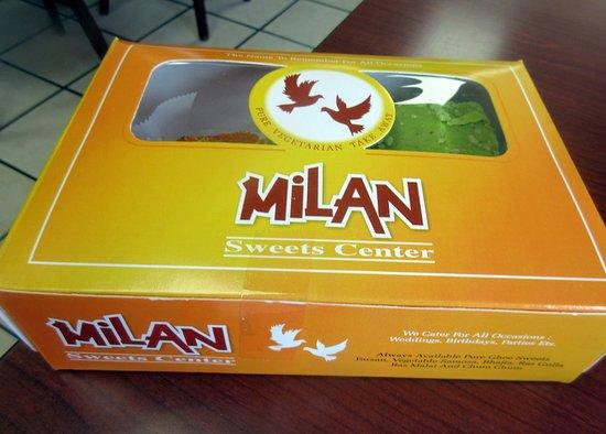 Boxed Milan Sweets, Milan Sweet Center, Milpitas, CA