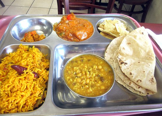 Lunch Curry Special, Very Good and Inexpensive, Milan Sweet Center, Milpitas, CA