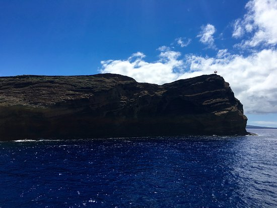Maalaea, Havai: Back of Molokini Crater as seen from the boat