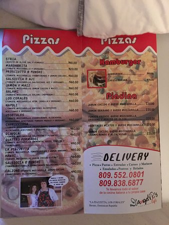 Casa D'Angelo's Bakery & Cafe: Lunch menu