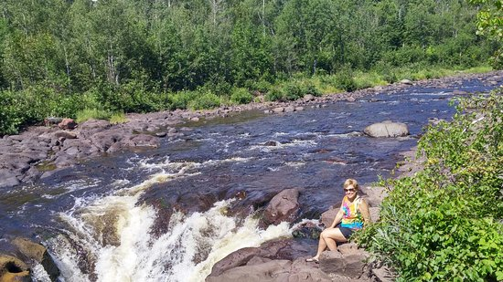 Schroeder, MN: One of the falls at Temperance River State Park.