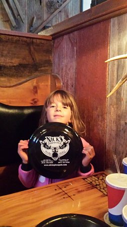 Crystal Lake, IL: Maddie  with her Nicks Dinner plate Frisbe