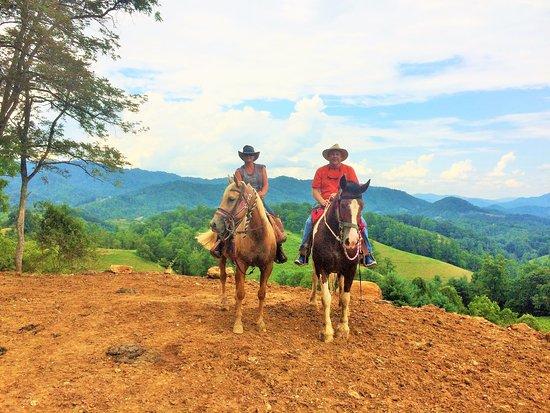 Marshall, NC: A good day at Sandy Bottom Trail Rides Thanks Slim