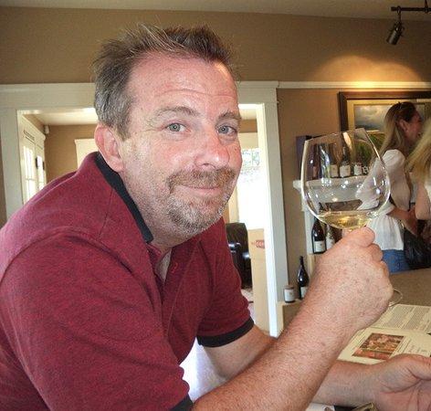 Santa Maria, CA: Dan McClelland sips.