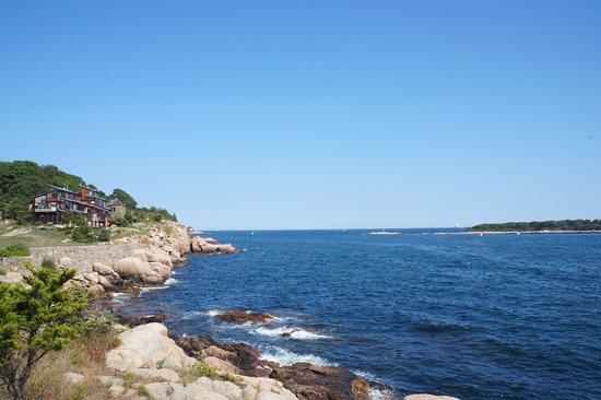 Manchester-by-the-Sea, MA: the view from the east side of the lawn