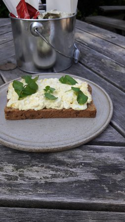 Lymm, UK: egg mayonnaise sandwich