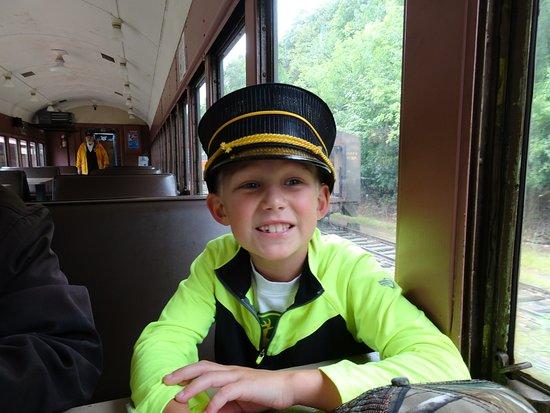 Osceola, WI: the conductor!