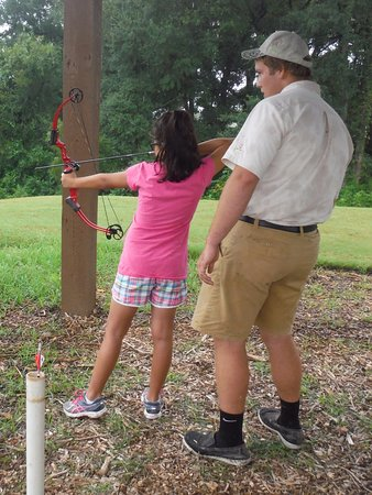 Cedar Creek, TX: Archery lesson