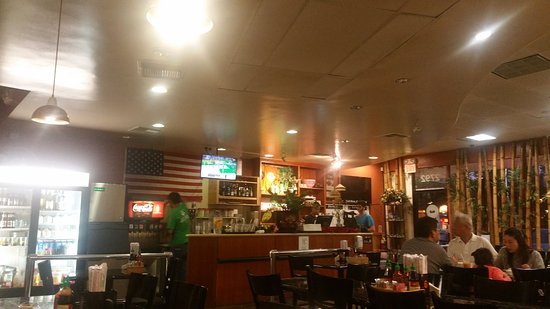 inside the bamboo cafe in simi valley bar area