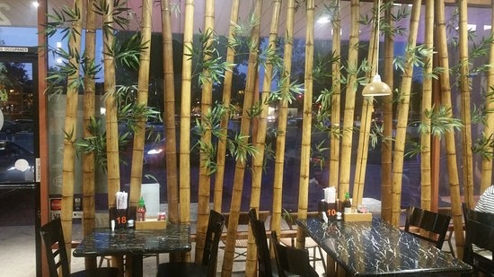 inside the bamboo cafe in simi valley behind the bamboo curtain