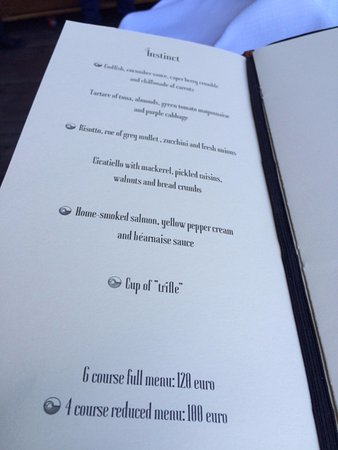 the menu from grotta palazzese picture of ristorante