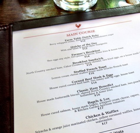 Bernardston, Μασαχουσέτη: Main courses for brunch